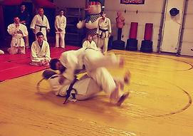 Photo of a martial arts class