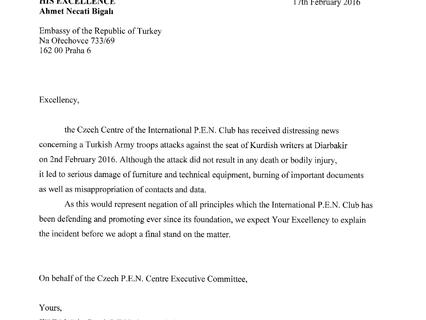 Útok na sídlo kurdských spisovatelů v Diarbakiru