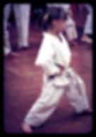 Photo of child in karate Gi