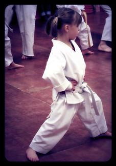 Photo of child in karate Gi