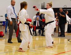 Black belt womens sparring
