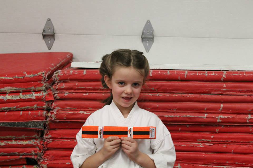 Elizabeth 6yo promoted to 8th Kyu