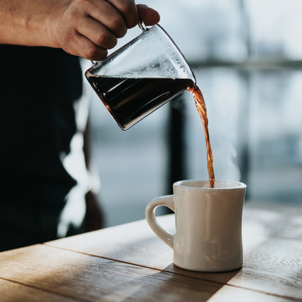 Serving Coffee
