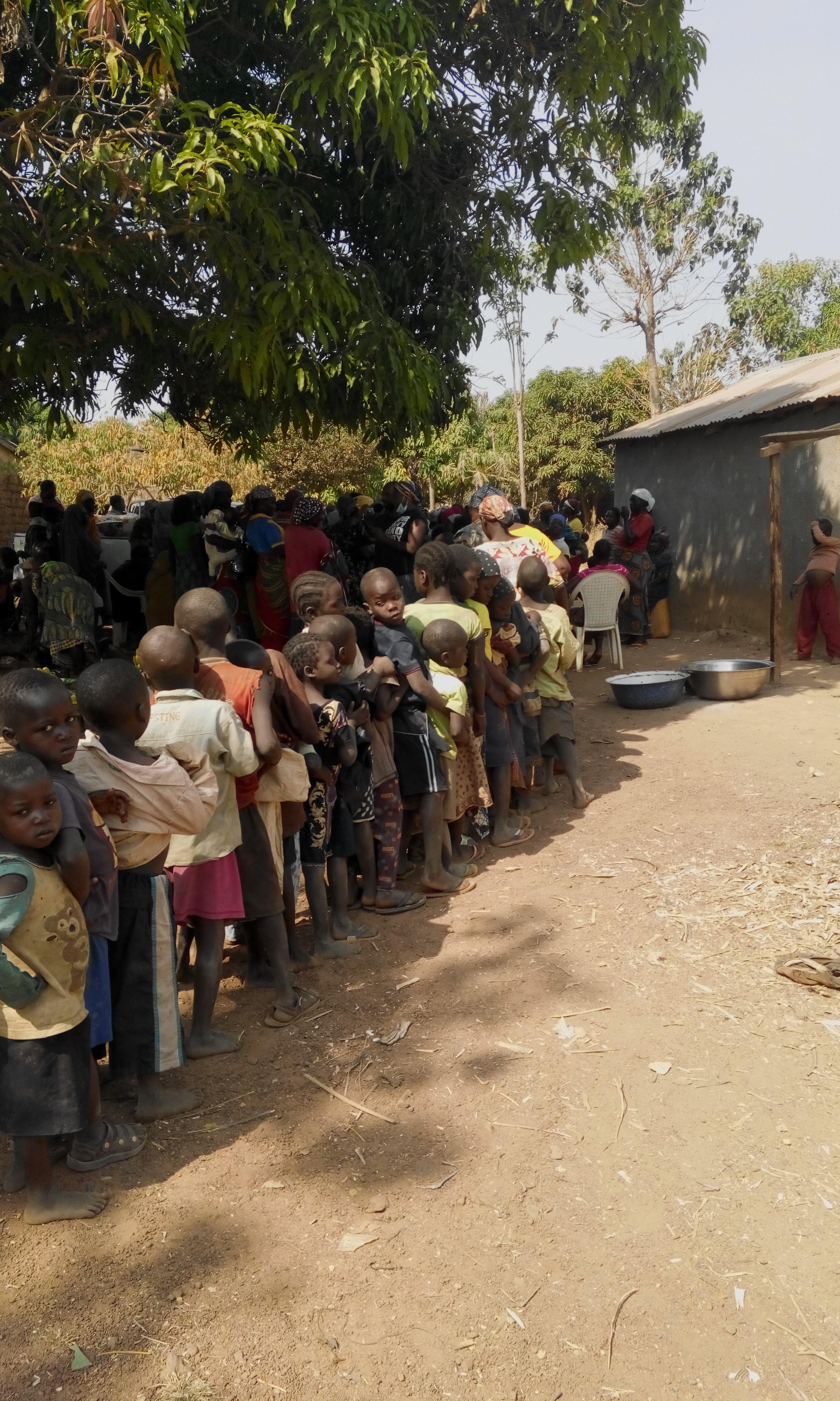 Children in queue