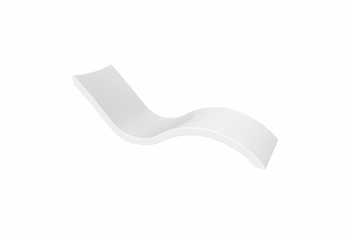 White Ledge Lounger Signature Chaise