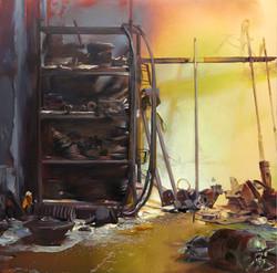 02 .Storage ,150 x 150 cm, oil on canvas
