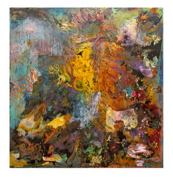Abstract N85, 200 x 190 cm, oil on canvas