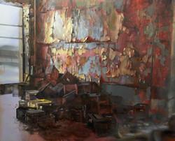01 .Patisserie workshop , 180 x 220cm, oil on canvas