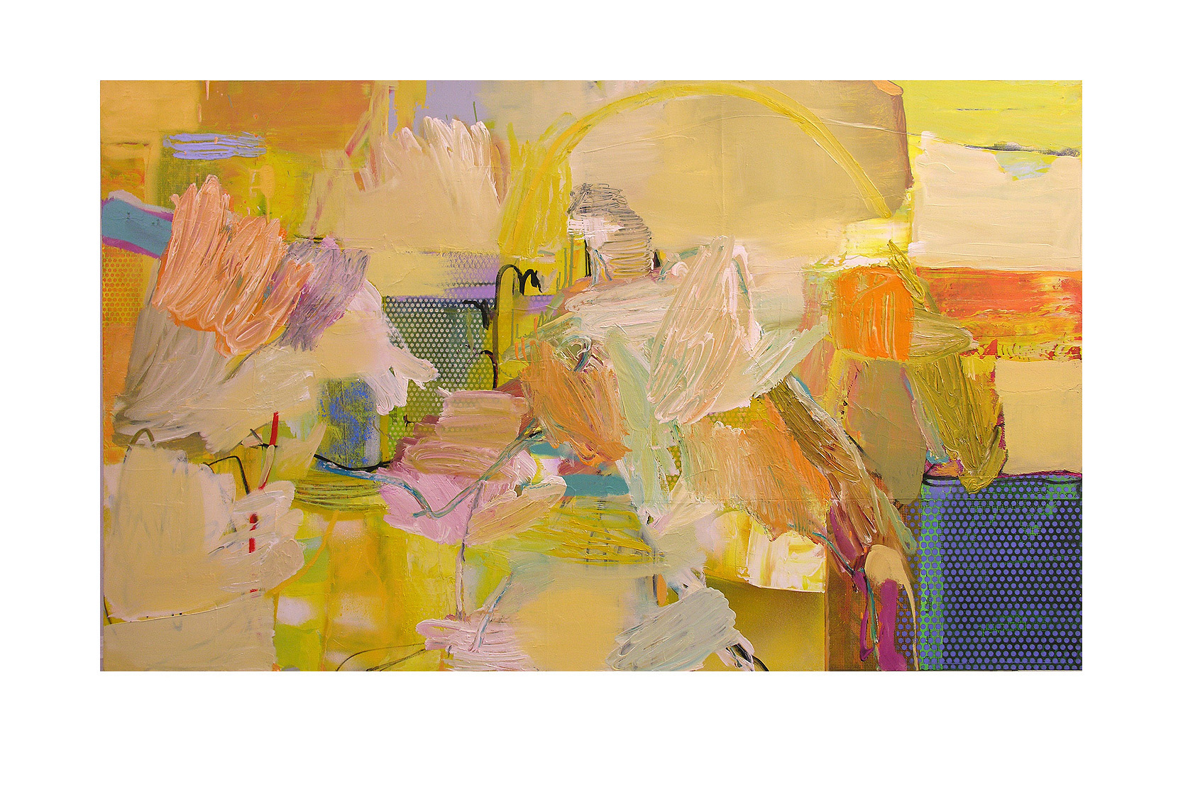 Abstract N87, 90 x 150 cm, oil on canvas
