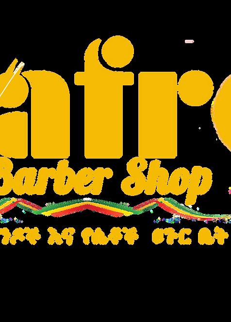 afro barber shop png file orange logo_ed