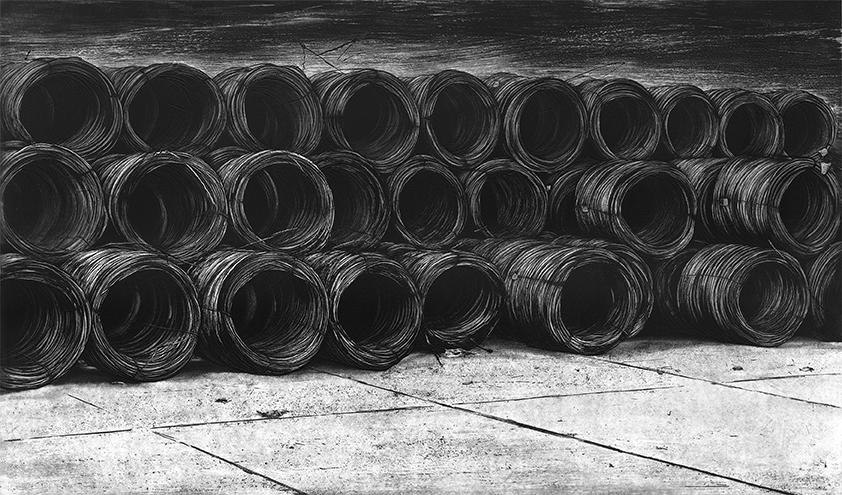 COILS II 2010  -etching- 101x60 cm