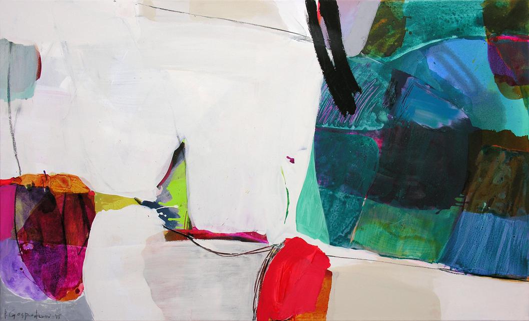 Hot - cold dilemma _ 90 cm x 150 cm _ mixed media on canvas