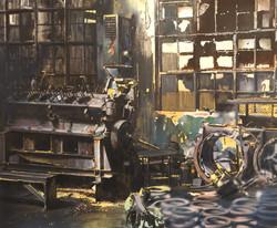Workshop, 190 x 230cm, oil and acrylics on canvas