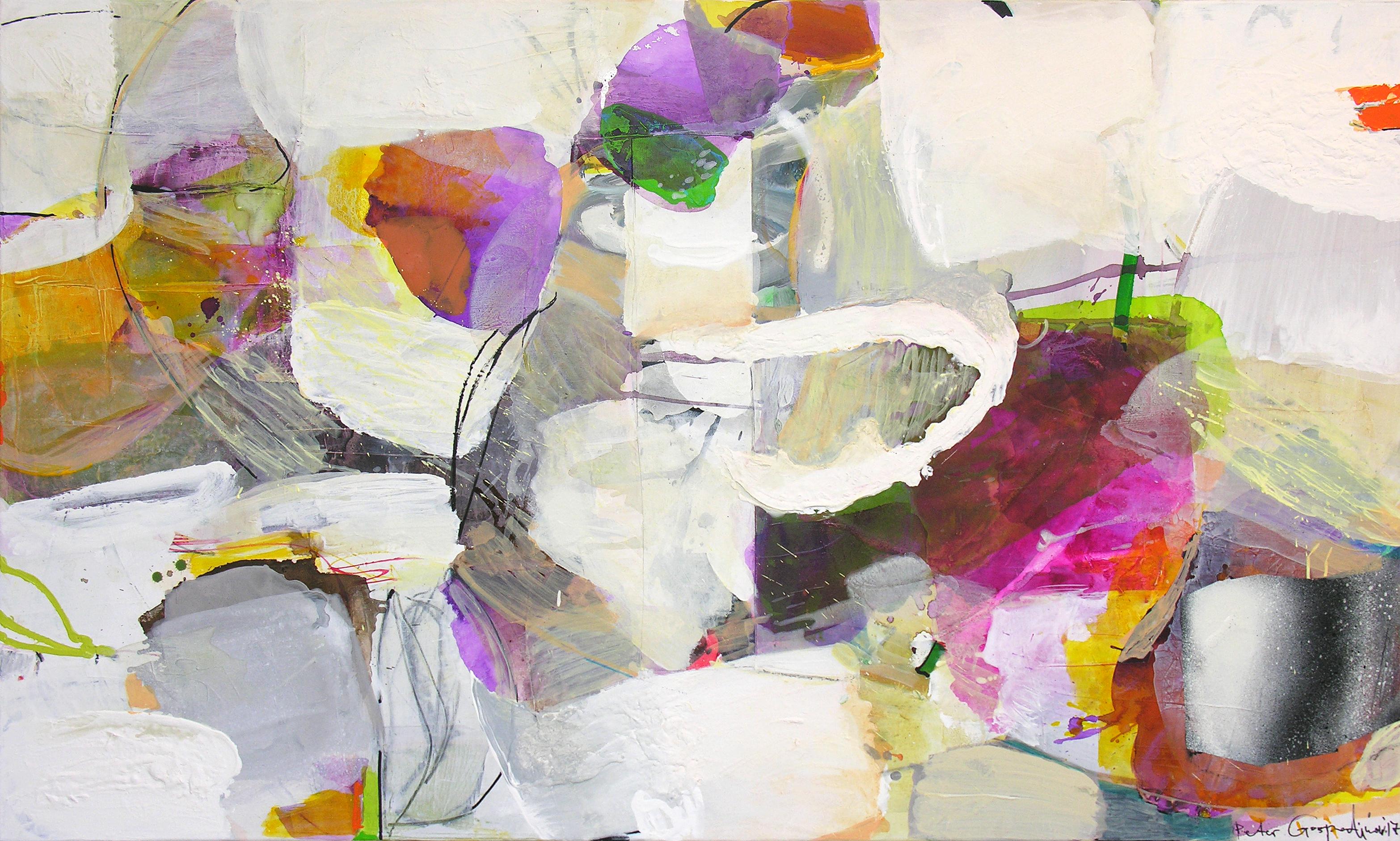 Movement _ 90 cm x 150 cm _ mixed media on canvas