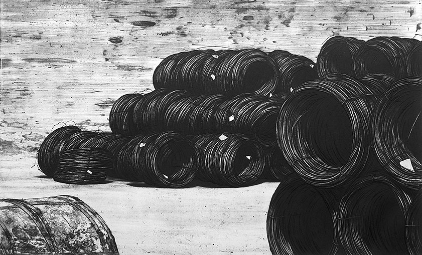 COILS III 2012 -etching- 100x60 cm