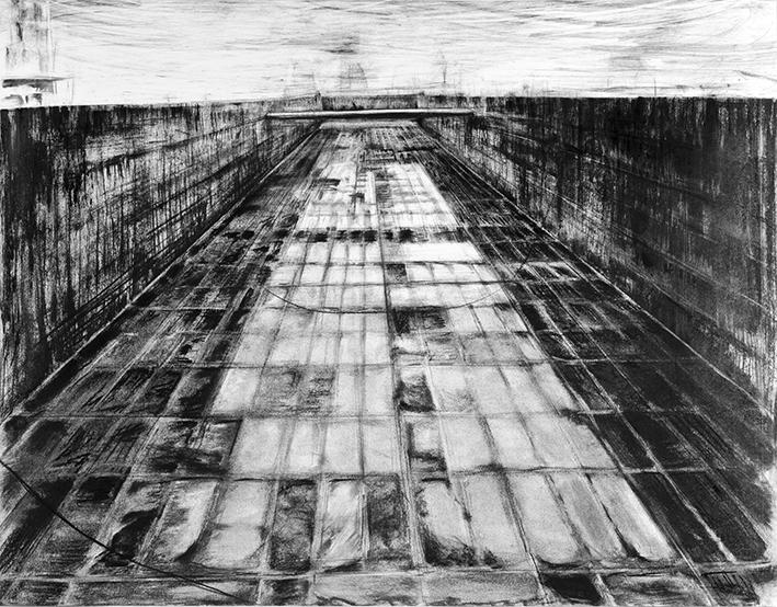 BARGE 2013 -charcoal- 82,5x73 cm