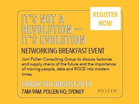 Join OFS August 9th at Pollen HQ for 'It's Not a Revolution, It's Evolution' Networking Breakfast