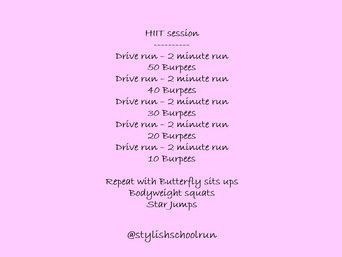 HOLIDAY HIIT SESSION