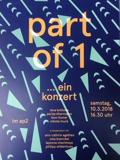 Plakat Part of 1... Konzert