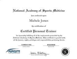 NASM-CPT Certificate