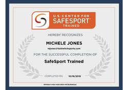 Safe Sport Certificate