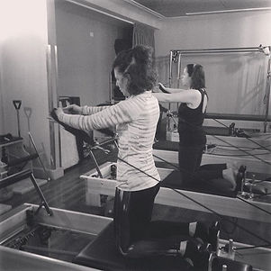Karina does Pilates because....'it makes me beautiful' and Moira does Pilates because...jpg