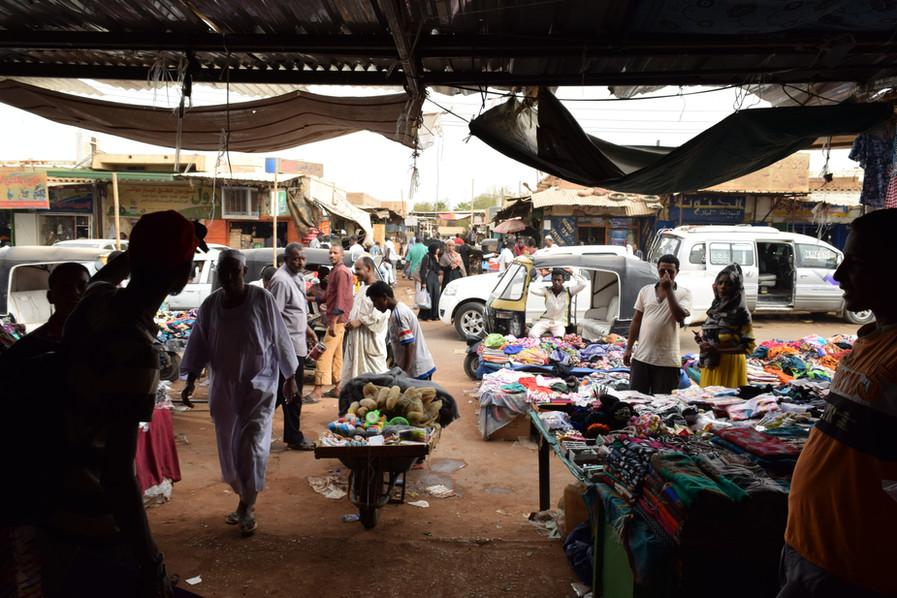 Souk es Shabi in Khartoum, Sudan, 2016.