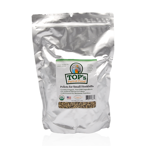 TOP's Parrot Food Pellets for Small Hookbills, 3 lb