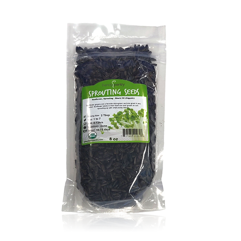 Sunflower, Sprouting - Black Oil (Organic)