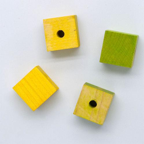 """Wood Cube, 1"""""""