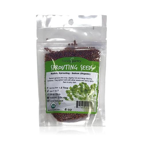 Radish, Sprouting - Dalkon (Organic), 4 oz