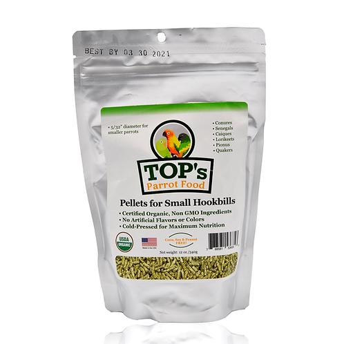 TOP's Parrot Food Pellets for Small Hookbills, 12 oz