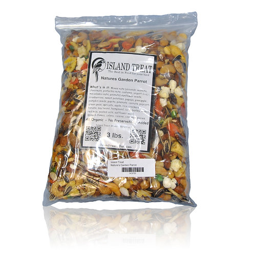 Island Treat Natures Garden Parrot, 3 lb