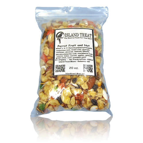 Island Treat Parrot Fruit and Nut, 20 oz