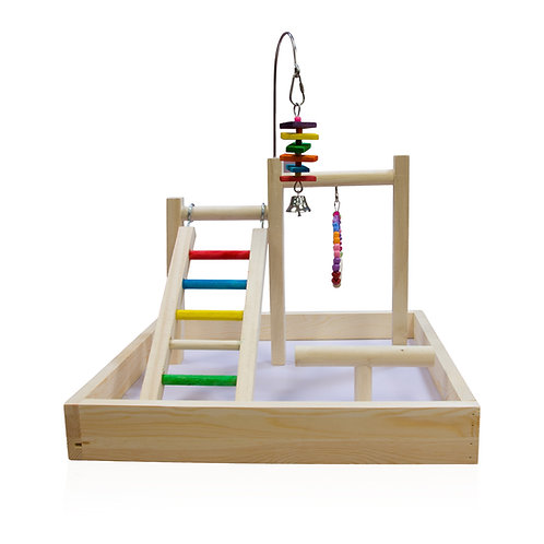 Wooden Playstand with Toy Hook