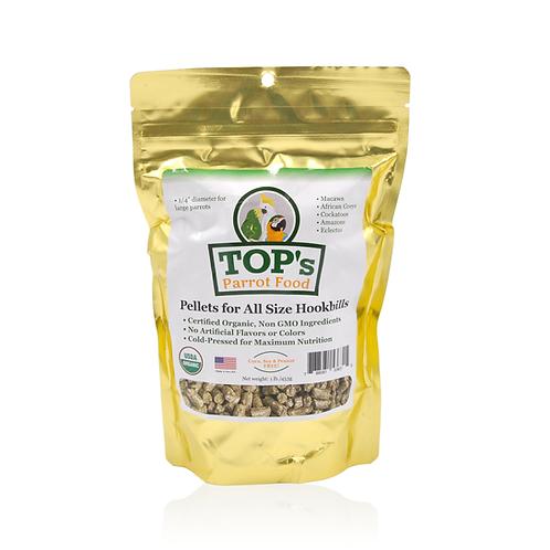TOP's Parrot Food Pellets for all Size Hookbills 1 lb