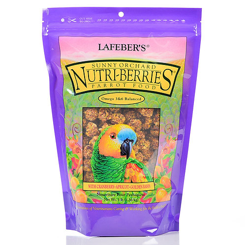 Nutri-Berries Sunny Orchard Parrot, 10 oz