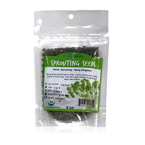 Bean, Sprouting - Mung (Organic), 4 oz