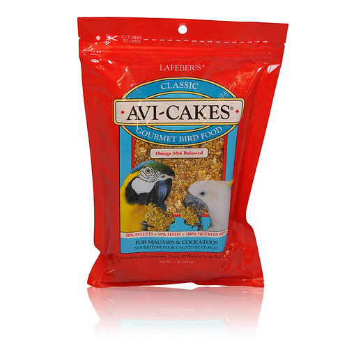 Avi-Cakes Classic Macaw and Cockatoo, 8 oz