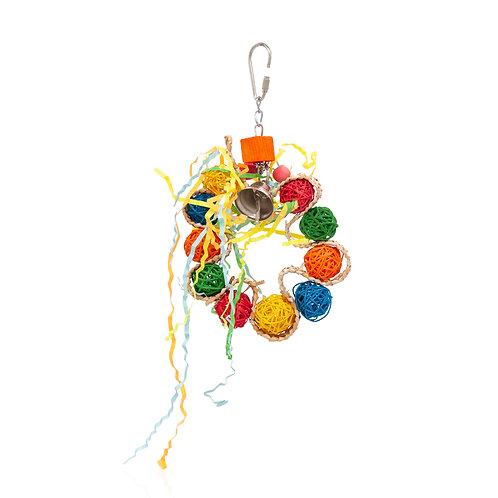 Vine Ball Braided Wreath, Small