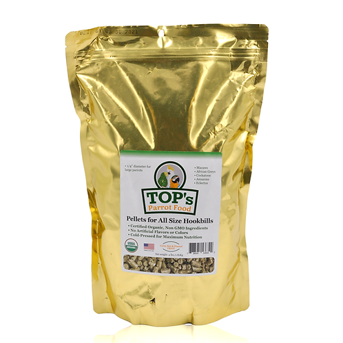 TOP's Parrot Food Pellets for All Size Hookbills