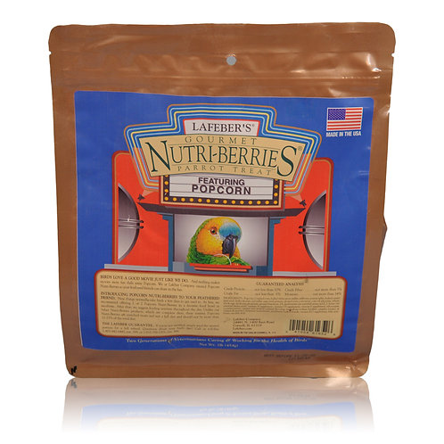 Nutri-Berries Popcorn Parrot, 1 lb