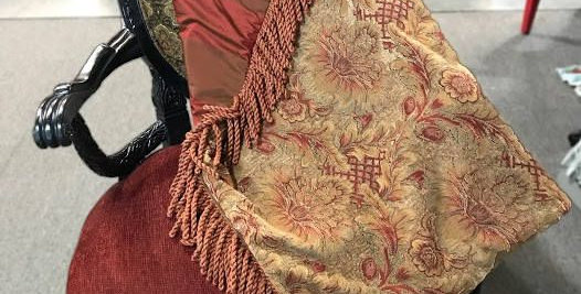 Red and Yellow Floral Throw
