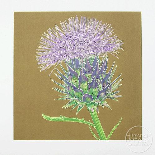 'Cardoon Flower'  screenprint