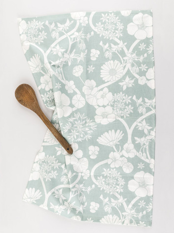 Jekka's Edible Flower Tea Towel