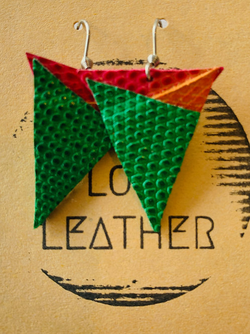 More Angles - Leather Earrings
