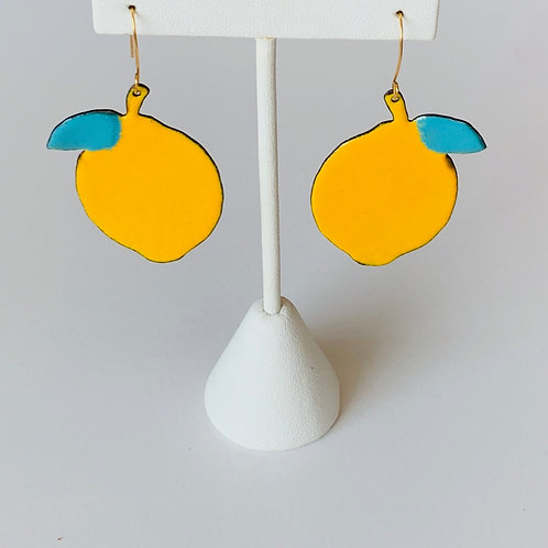 Pucker Up - Enamel Earrings