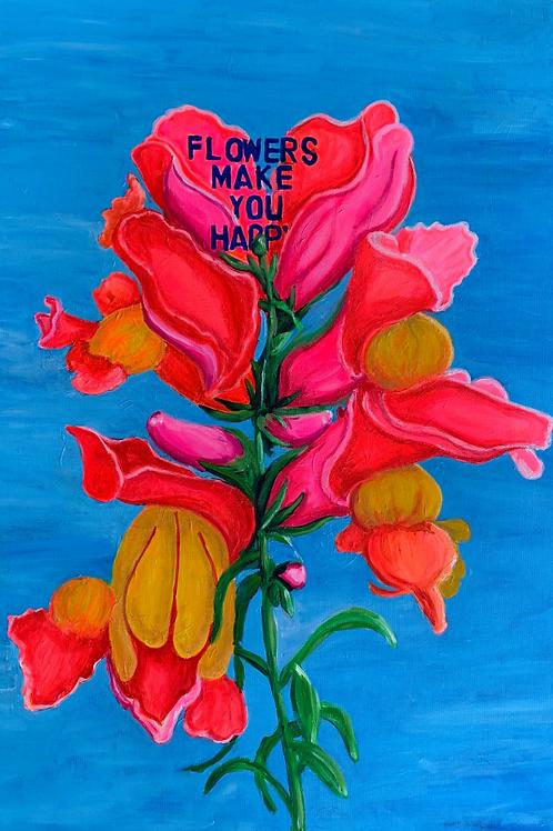 Artist, Susannah Raine - Flowers Make You Happy