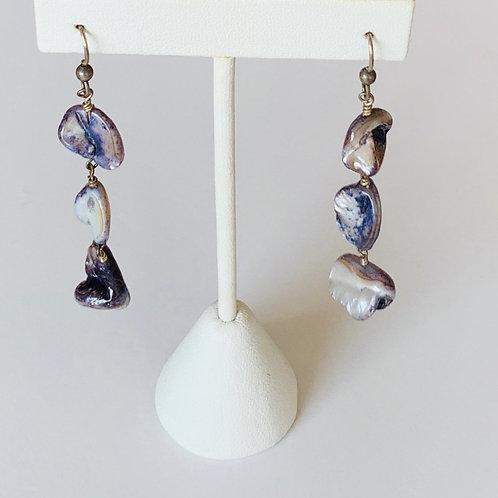 Deep Ocean Shell Earrings