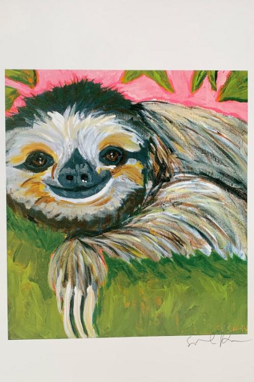 Artist, Susannah Raine -Silly Sloth Limited Edition Print